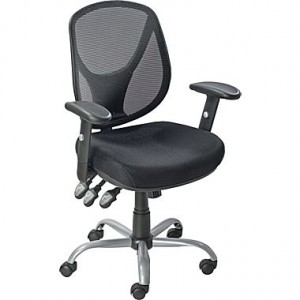 Acadia Ergonomic Mesh Task Mid-Back Chair, Black