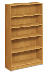 HON 1870 Series Bookcase 5 Shelves Harvest