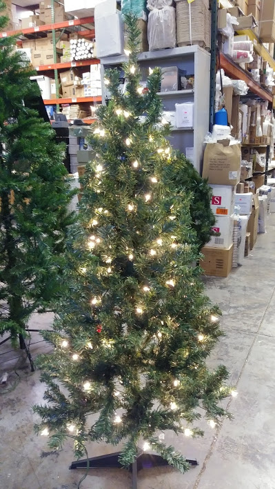 5 wood trail pine artificial christmas tree w200 clear lights - Office Supply Christmas Decorations