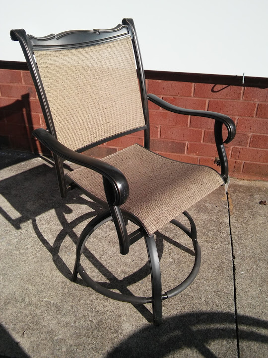 Patio furniture super sale take an extra 50 our already for Tall patio chairs sale