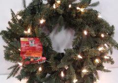 Christmas Meadow Wreath, 24″ Pre-Lit