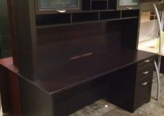 Espresso Executive Desk with Hutch, Magellan Performance Collection