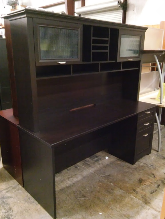 Magellan Performance Collection Executive Desk With Hutch, Espresso Finish