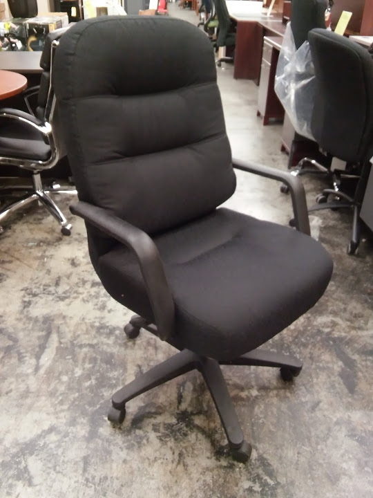Merveilleux HON 2090 Series PillowSoft High Back Executive Chair, Black Fabric