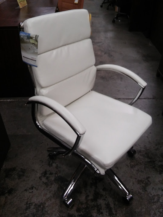 Pleasing Alera Neratoli Mid Back Modern Office Chair White Faux Machost Co Dining Chair Design Ideas Machostcouk