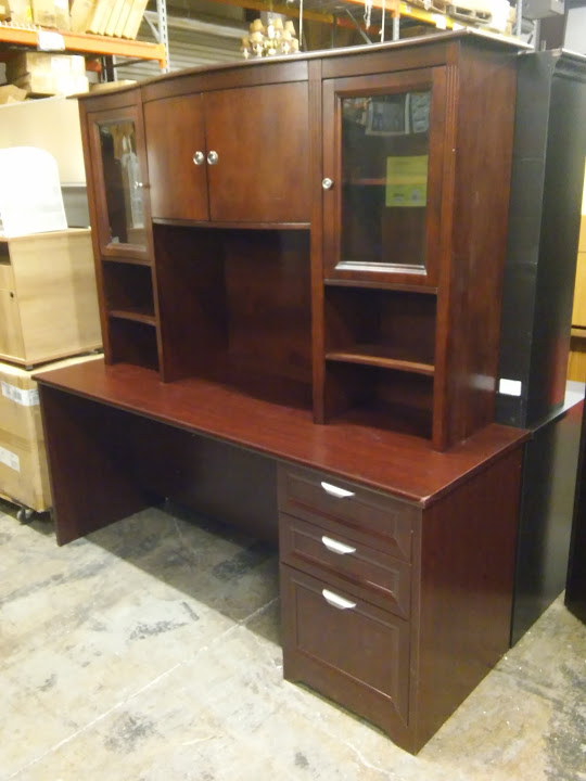 Cherry Executive Desk With Hutch Magellan Performance Collection