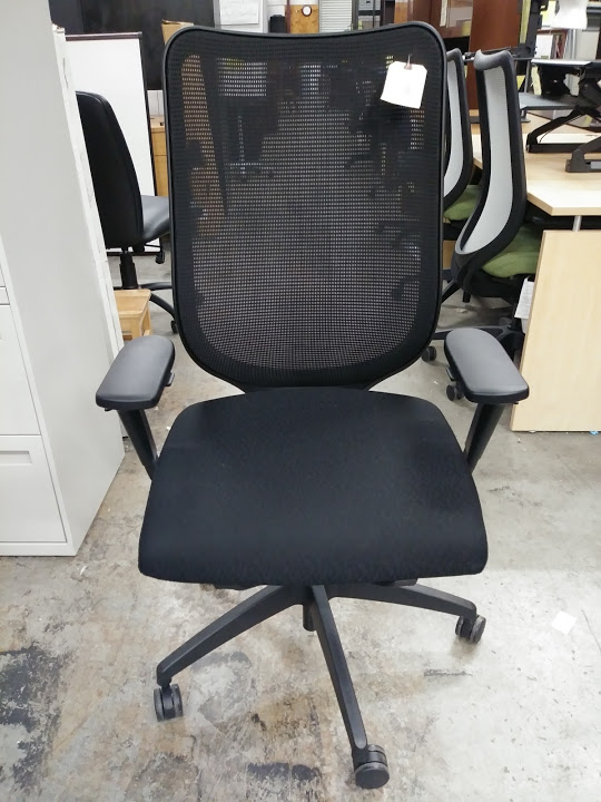 HON Nucleus Executive Office Chair With Mesh Back U0026 Synchro Tilt, Black