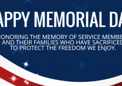 We Will Be CLOSED Memorial Day