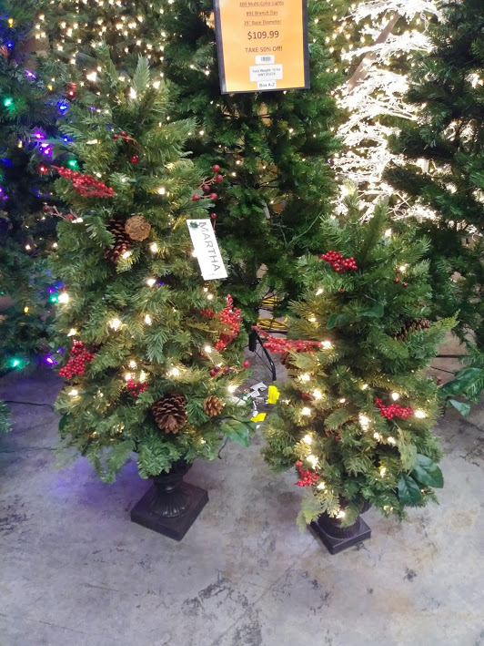 Martha Stewart Living 3ft Winslow Fir Accent/Porch Tree w/50 Clear Lights