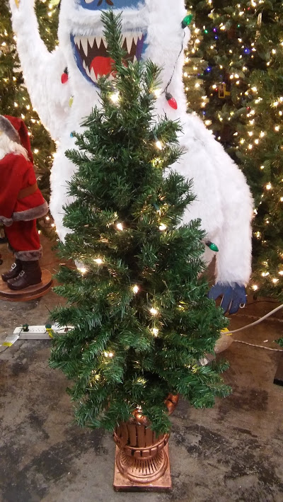 4ft pre lit potted porch christmas tree - Office Supply Christmas Decorations