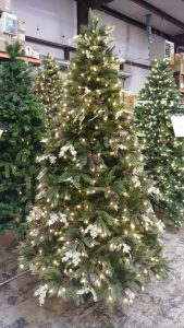 Christmas Tree, Martha Stewart 7'6″ Andes Fir Pre-Lit Quick-Set Christmas Tree