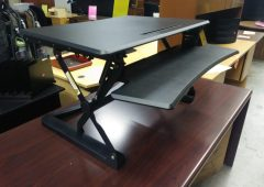 Sit to Stand Adjustable Desk Riser, 35″