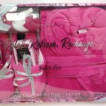 Pink Robe & Spa Gift Set, Vanilla Rose