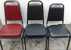 Stacking Banquet Chairs, Flash Furniture Hercules Series, Vinyl Upholstered