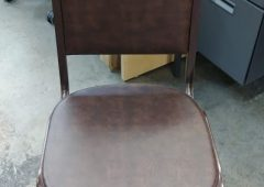 Stacking Banquet Chairs, Flash Furniture Hercules Series w/Crown Back in Brown Vinyl