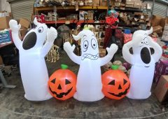 Halloween Airblown 9ft Pumpkin & Ghost Inflatable